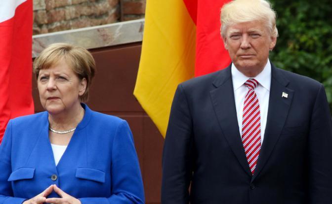 Трамп и Меркель замахнулись на империю Вашингтона