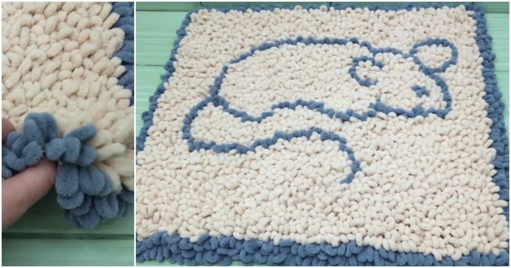 Пушистый коврик без вязания: уникальная техника, доступная даже ребенку