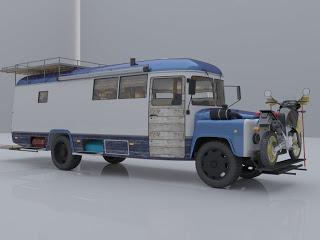 Автодом из удлиненного автобуса КАВЗ 397652