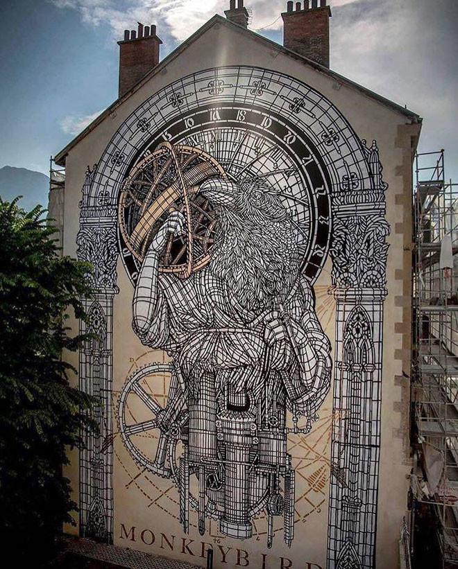 Monkeybird Crew (Франция) в мире, граффити, интересное, искусство, подборка, стрит-арт, уличное искусство