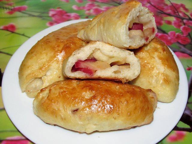 Пирожки с яблоками на дрожжах рецепты
