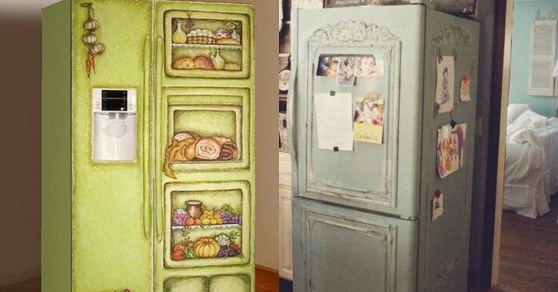 Как покрасить холодильник своими руками фото