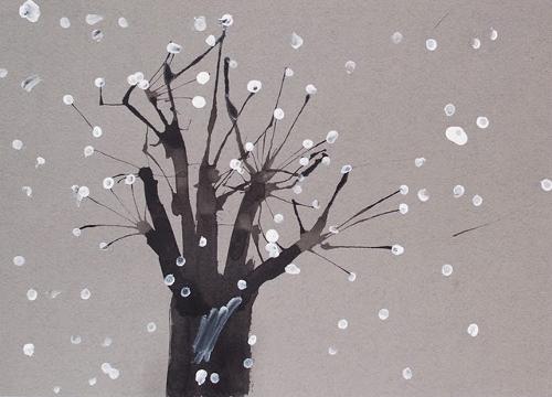 Картинка зимы своими руками