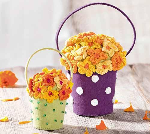 Миниатюрные корзинки с цветами