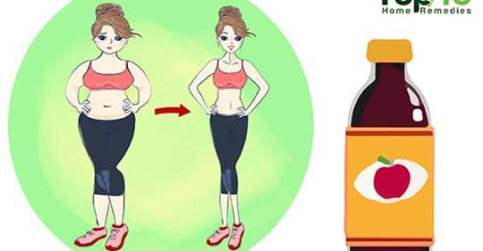 Сжигайте жир в области живота с яблочным уксусом