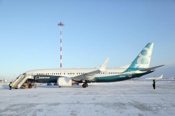 Новый Boeing 737MAX прибыл в Якутск для испытаний при низких температурах