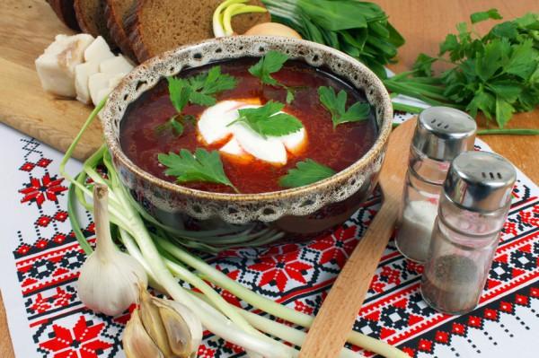 Украинский борщ с мясом