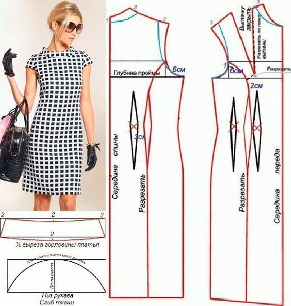 Как сшить себе платье без рукавов