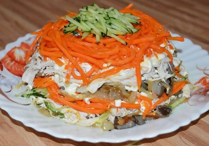Салат с курицей «Восторг» -  простой и быстрый, но на гостей впечатление произведет!