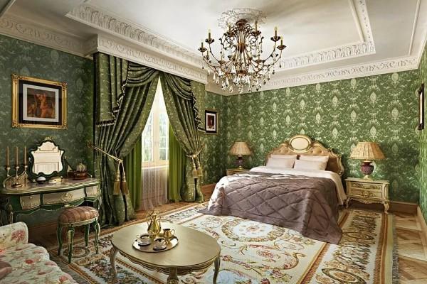 сочетание цветов в интерьере спальни французский стиль
