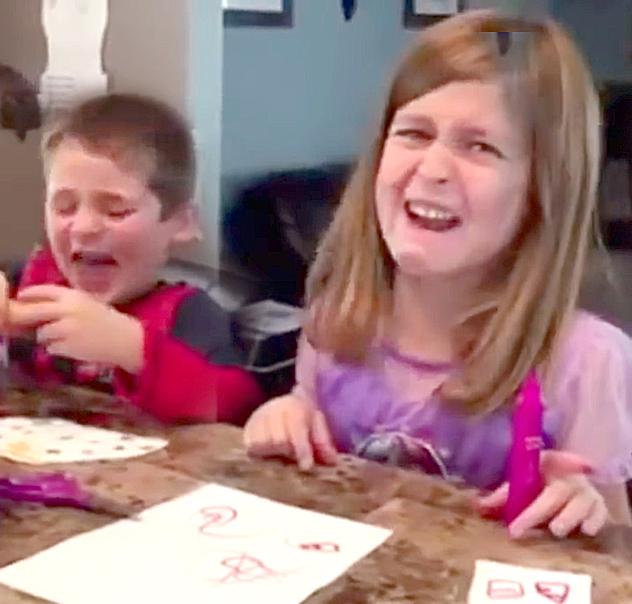 Издевательский розыгрыш американцев над своими детьми засняли на видео