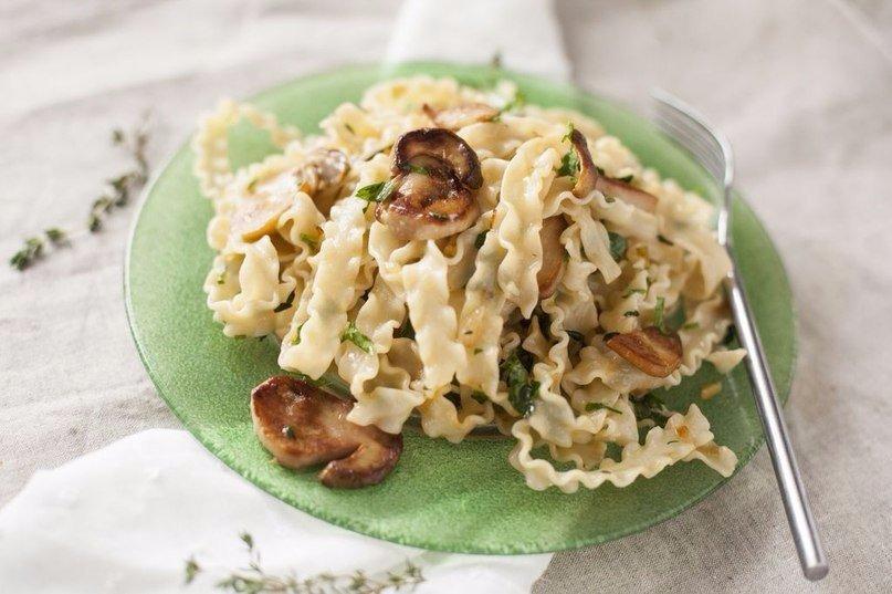 Паста с белыми грибами рецепт