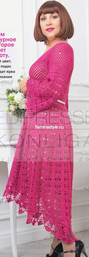 Кружевное платье с асимметричным подолом