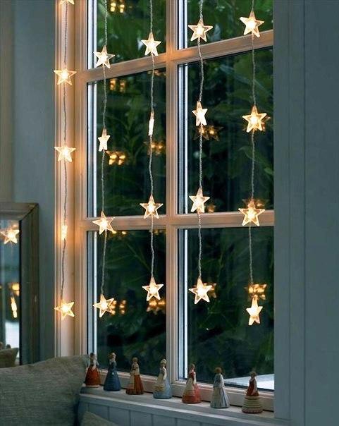 Декор квартиры к Новому году. Украшаем окна