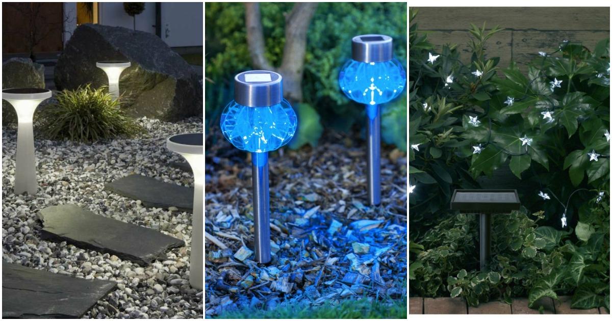 Уютный декор для вашего сада: фонарики на солнечных батареях