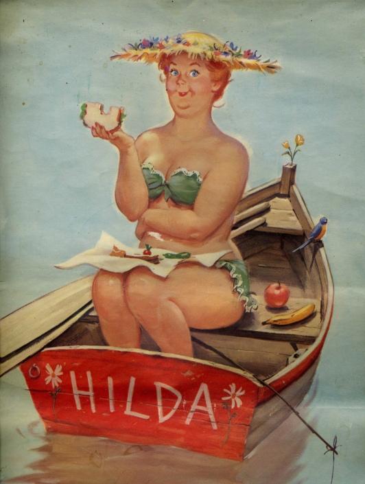 Жизнерадостная Хильда – pin-up в полном расцвете!
