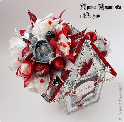 Мастер-класс Свит-дизайн Новый год Бумагопластика Моделирование конструирование Рафаэлкин Домик и Птичий цветок фото 15