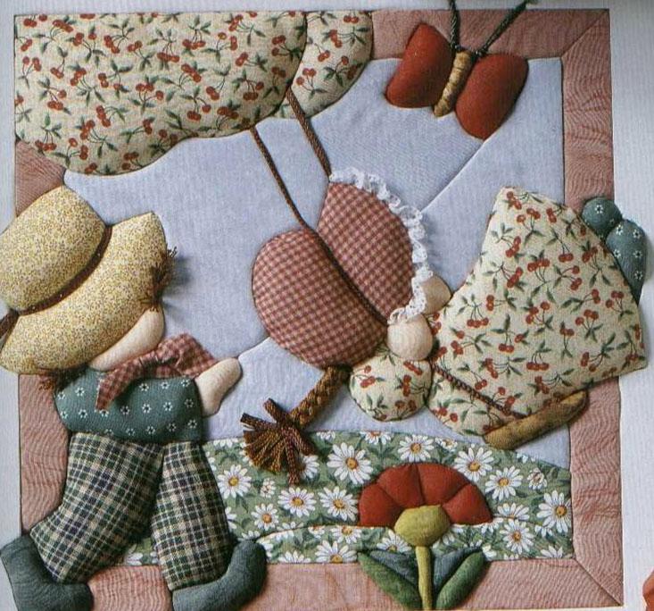 Японская техника «кинусайга», или Пэчворк без иглы... В этой технике получаются прекрасные картины, панно, сувениры!