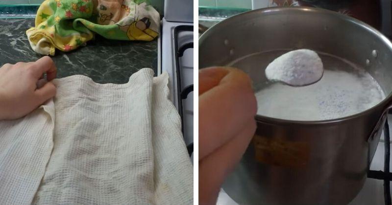 Такого результата в стиральной машинке не добиться: суперотбеливание полотенец