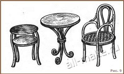 Гнутая мебель своими руками