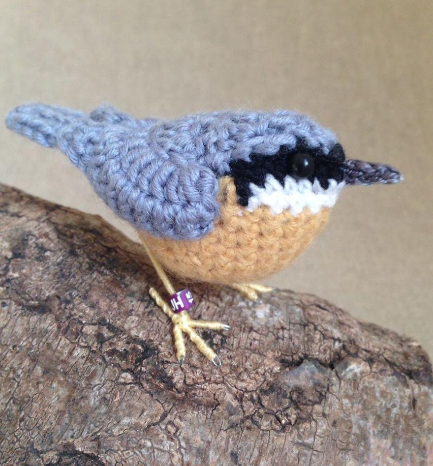Вот-вот взлетят: реалистичные вязаные птицы Jose Heroys