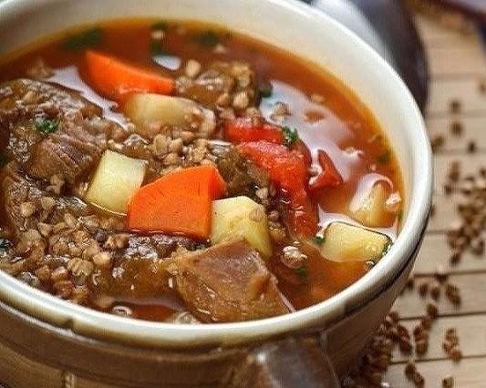Вкуснейший гречневый суп с мясом