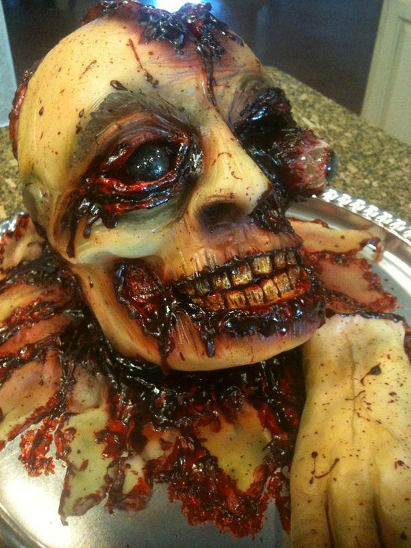 Оригинальные торты на Хэллоуин - страшные фуд фото