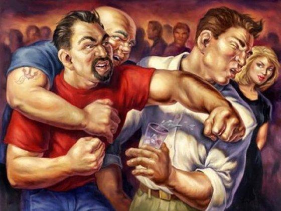 Московские работяги избили «бандеровцев» за «Славу Украине!»