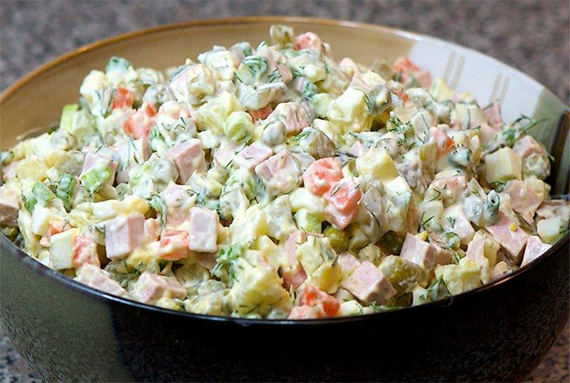Как я салат оливье в США готовил