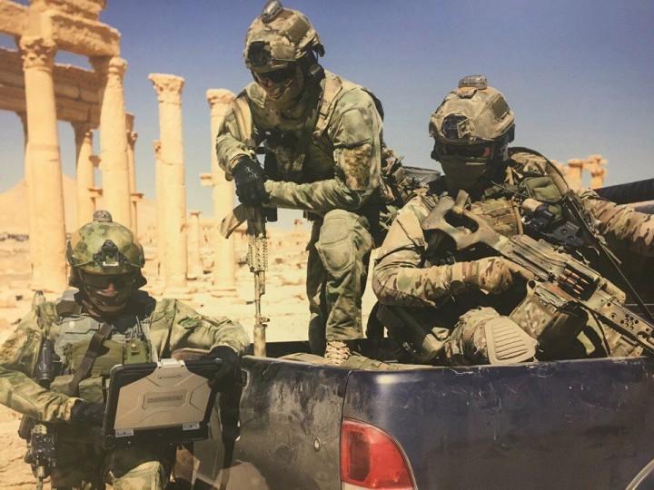 Бойцы ССО в освобождённой Пальмире
