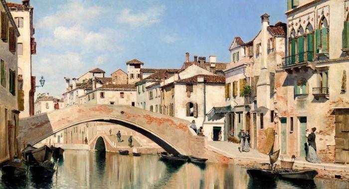 городские пейзажи художника Federico del Campo - 08
