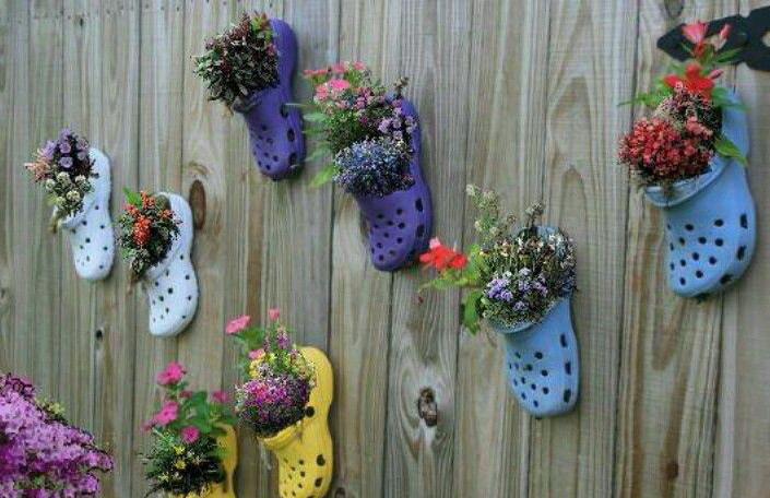 Горшки из обуви