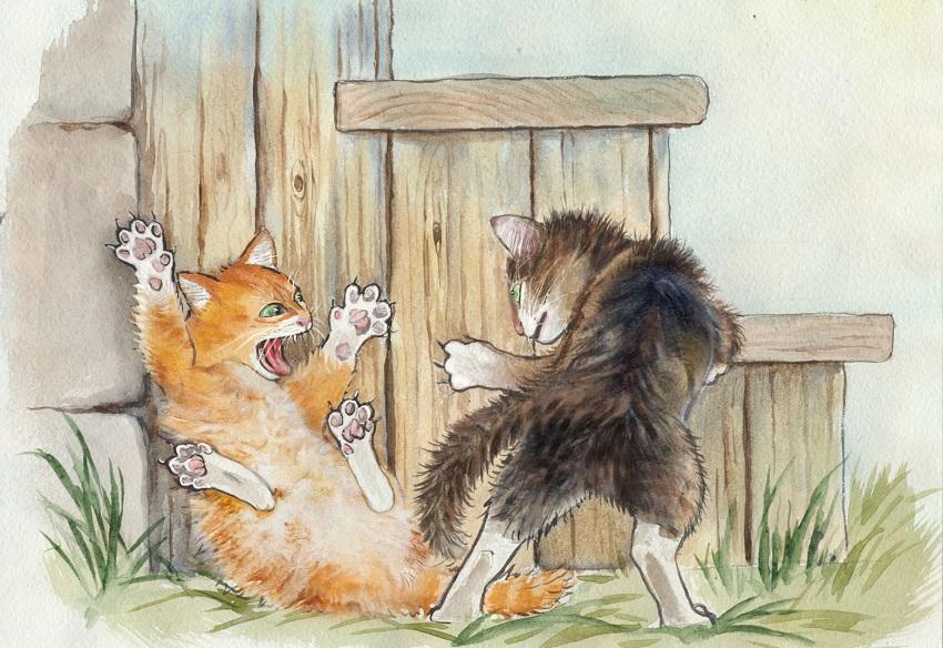 Кошки – милые созданья... Художник-иллюстратор Анастасия Аллен