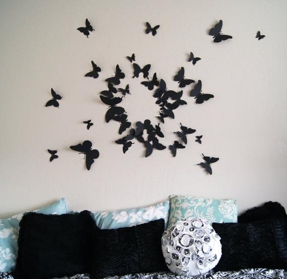 Дизайн бабочек на стену