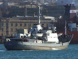 """Разведывательный корабль """"Лиман"""" затонул после столкновения"""