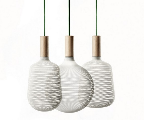 Светильники с сетчатыми абажурами