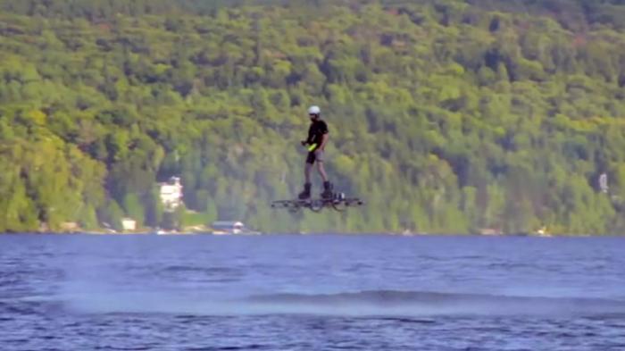Ховерборд, установивший абсолютный рекорд по дальности и высоте полёта