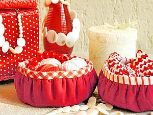 Шьем круглые корзиночки — быстро, легко, удобно | Ярмарка Мастеров - ручная работа, handmade