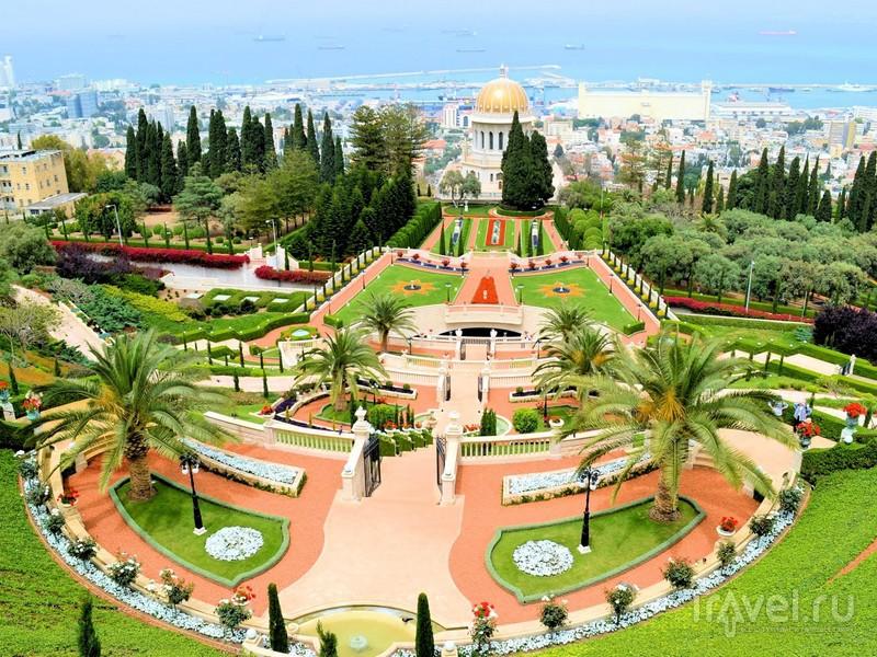 Бахайские сады: террасы, ведущие к Хайфскому заливу