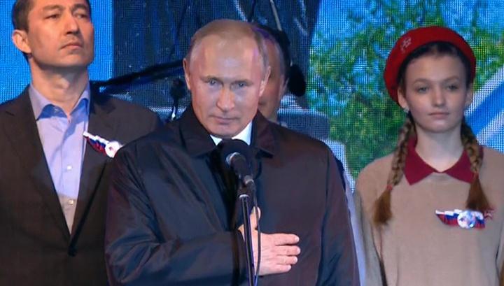 Мы вместе: Путин поздравил крымчан с пятилетием возвращения в Россию.