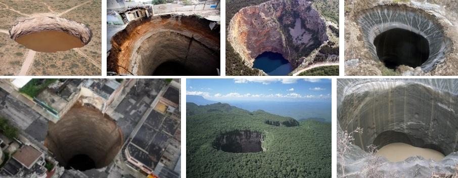 Остатки древних цивилизаций: вертикальные пещеры и входы во внутреннюю Землю