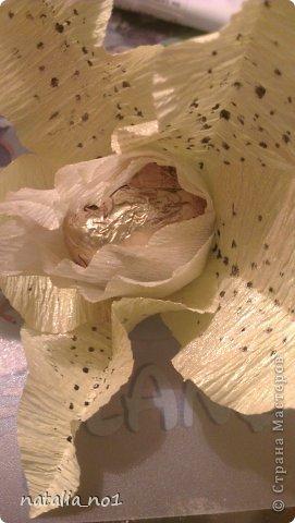 Мастер-класс Свит-дизайн МК по изготовлению лилии Бумага гофрированная фото 15