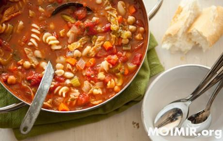 Рецепты Тосканы. Овощной суп «Минестроне»