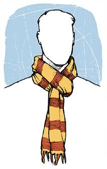 Рисунок шарф на шее