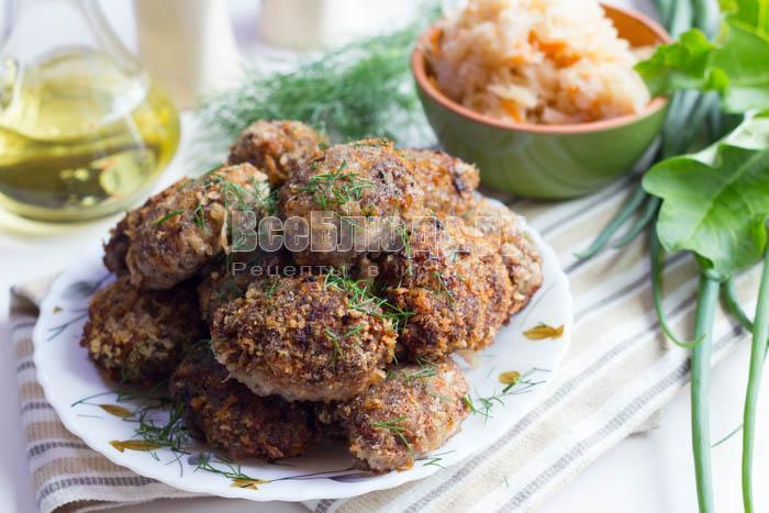 Котлеты с квашеной капустой и фаршем рецепт
