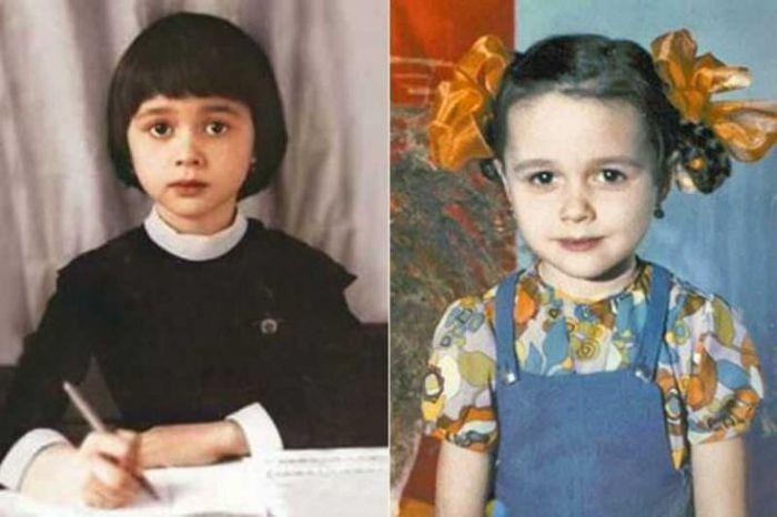 Анастасия Заворотнюк в детстве. / Фото: www.pinimg.com