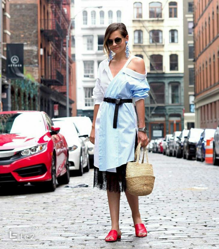 Рубашечное платье