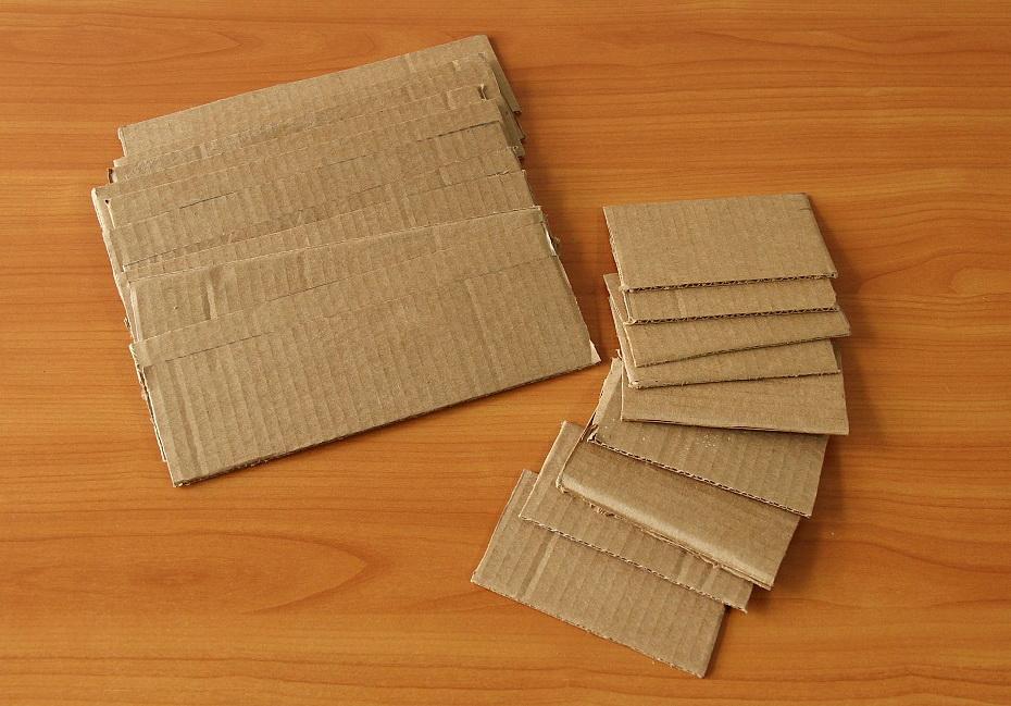 Бумажные кирпичики