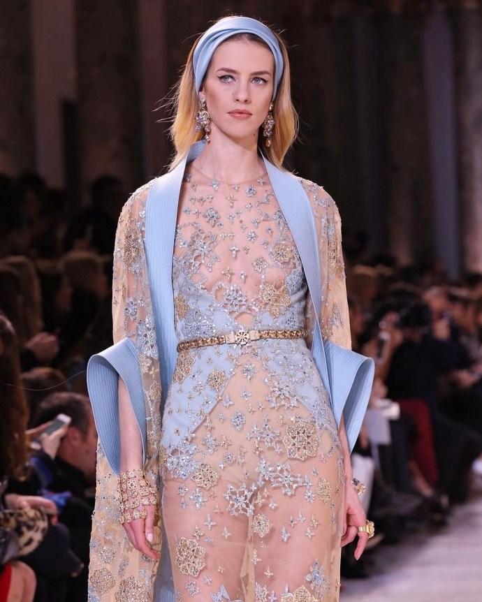 Elie Saab Haute Couture весна-лето 2017 — женственные и шикарные образы в стиле «старого Голливуда»