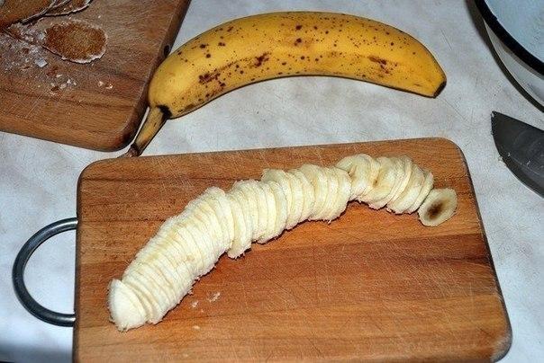 приготовление бананового торта